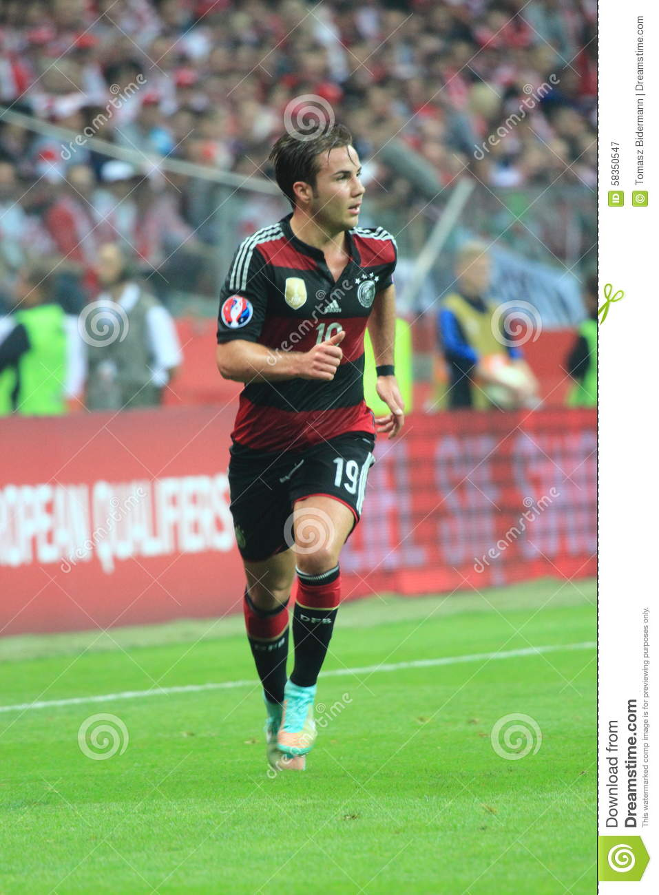 Mario Gotze editorial photography  Image of match, sport - 58350547