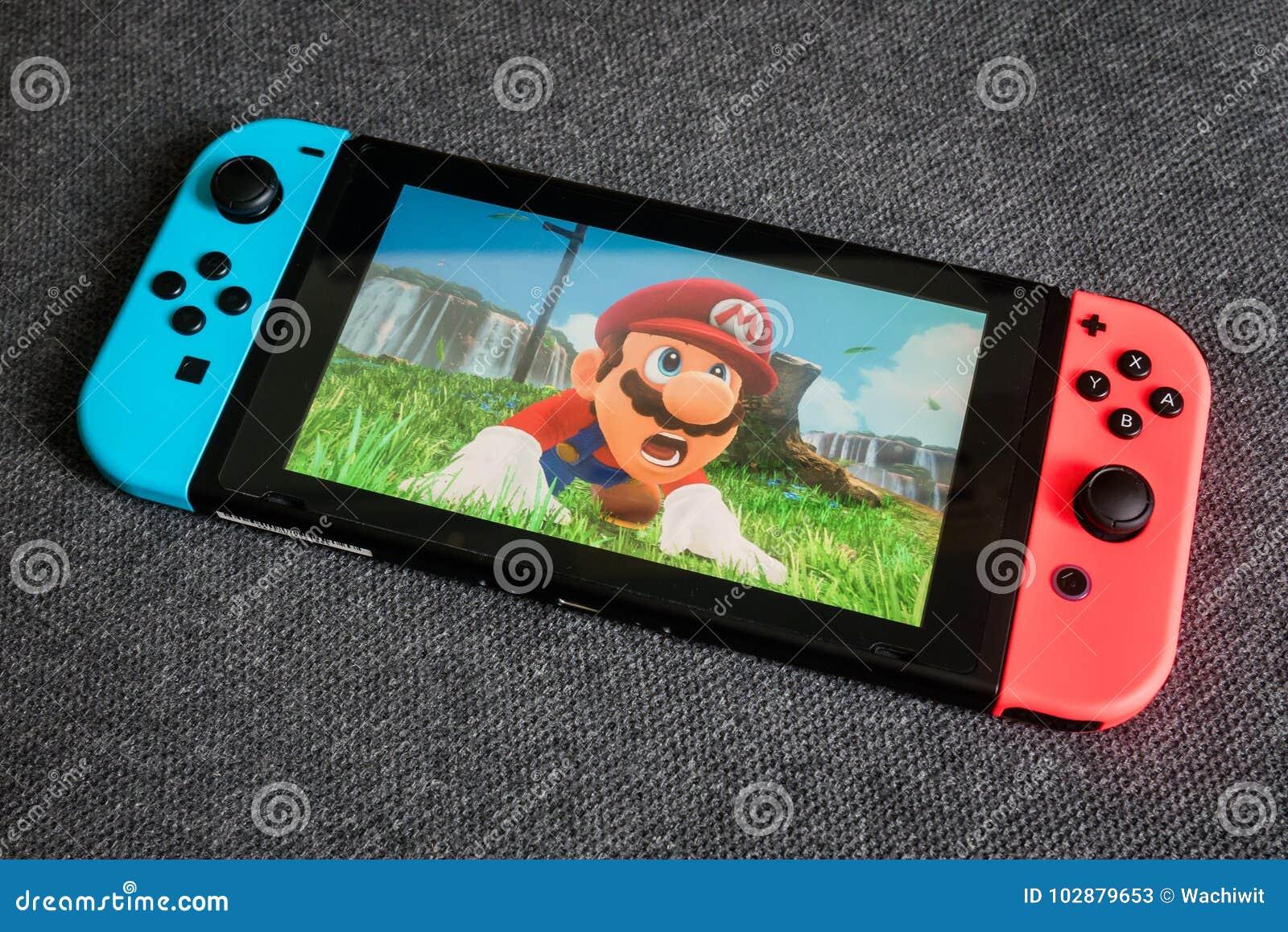 Mario Odyssey super no interruptor de Nintendo