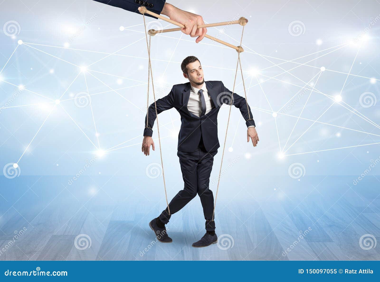 Marionettenzakenman met financieel concept