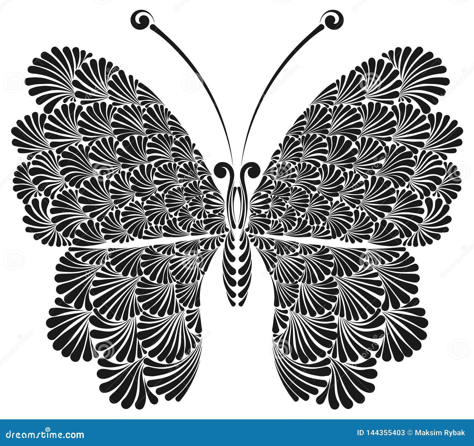 Mariposa con las alas a cielo abierto hermosas
