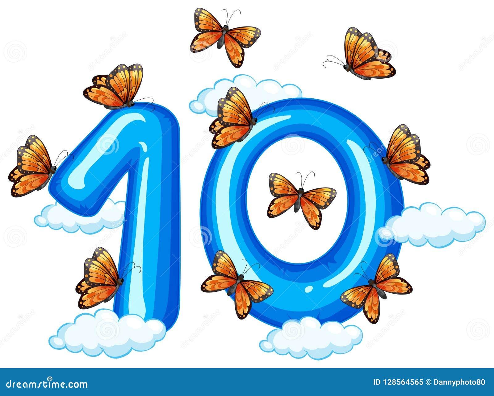 Mariposa diez en el cielo