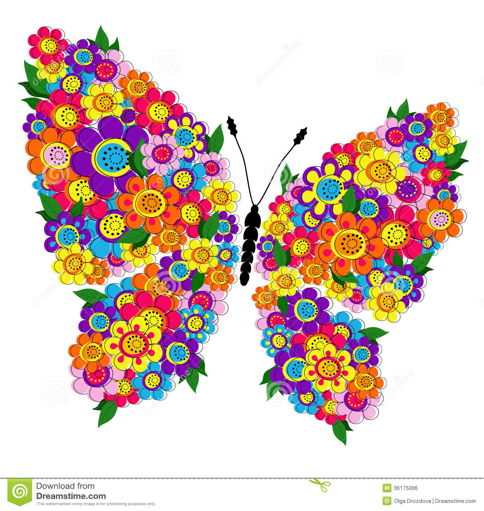 mariposa floral de la primavera imagen de archivo libre de. Black Bedroom Furniture Sets. Home Design Ideas