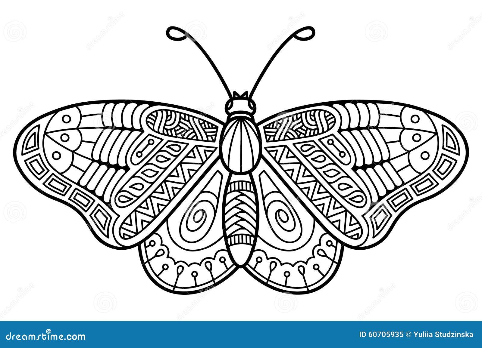 Mariposa linda ilustración del vector. Ilustración de colorante ...