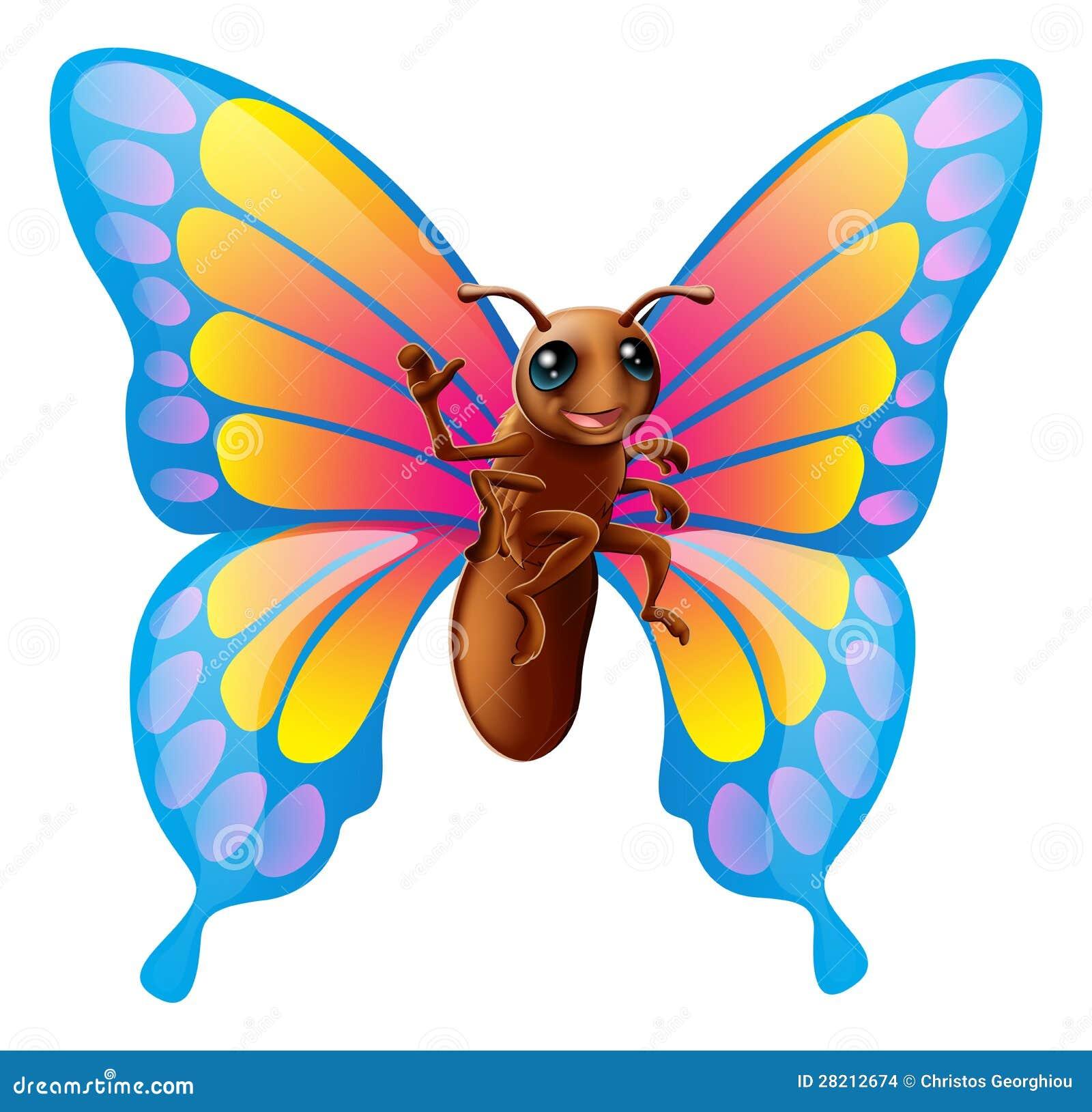 Mariposa linda de la historieta