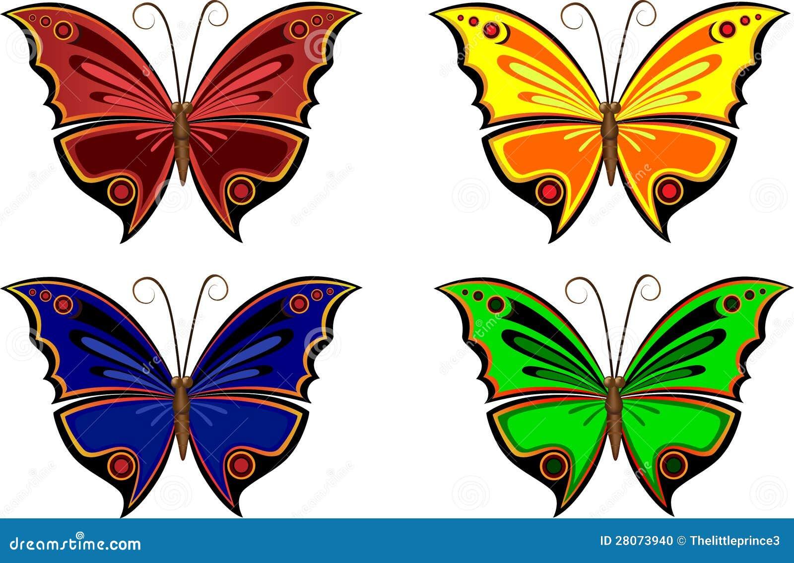 Dibujos de mariposas a color - Imagui