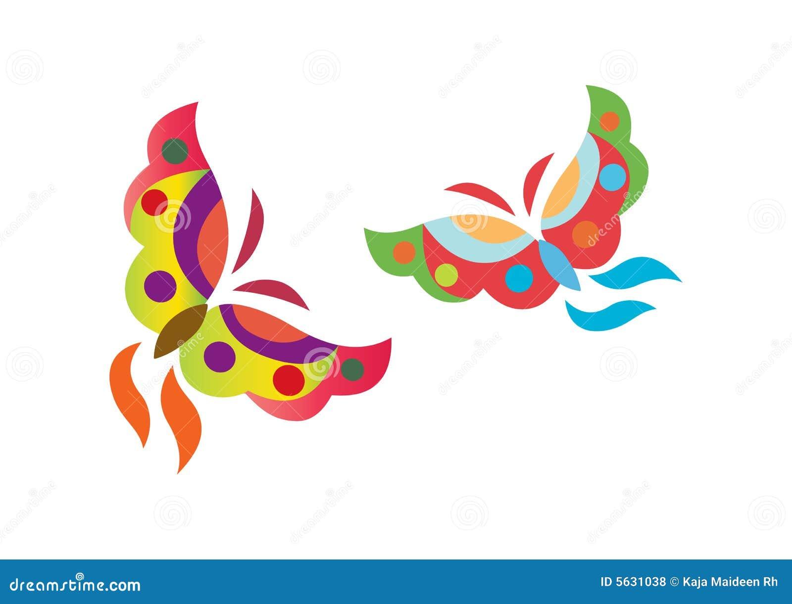 Mariposas de la insignia - vector