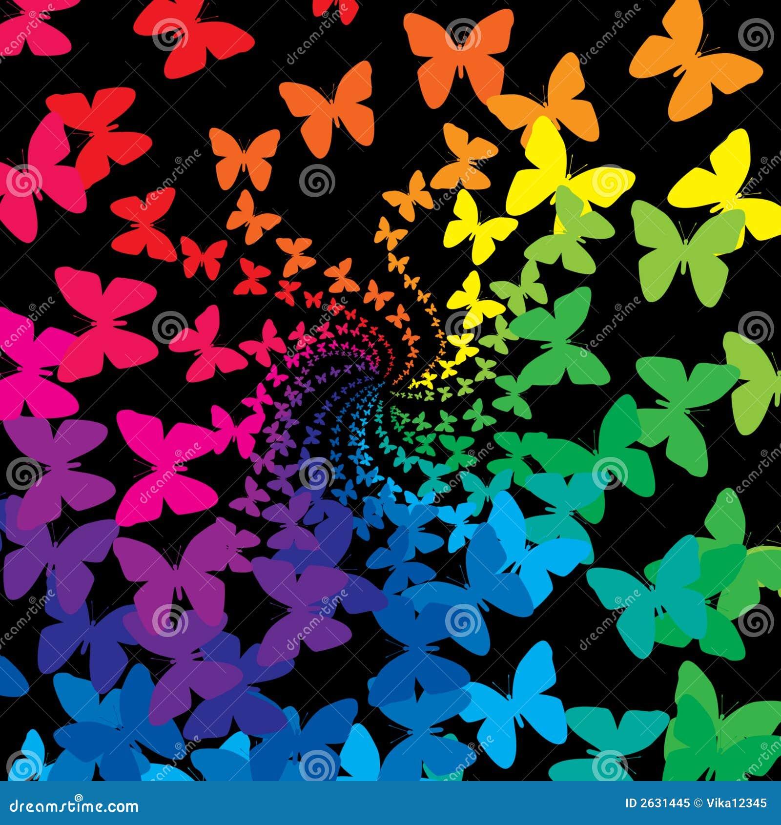 Diseño Del Rainbow Warrior Iii: Mariposas Del Arco Iris Foto De Archivo Libre De Regalías