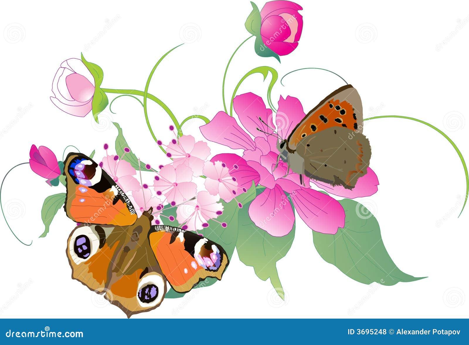 Fotos de archivo libres de regalías: Mariposas en la ilustración de
