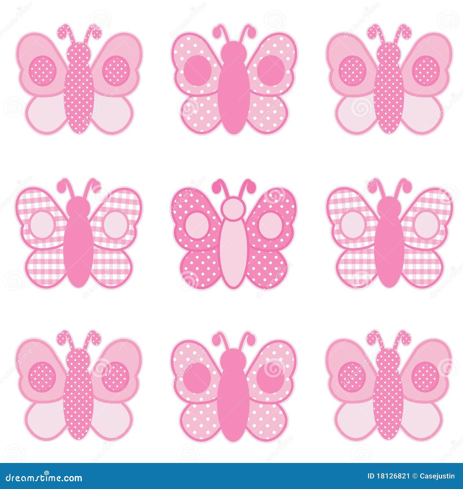 Mariposas Rosadas Imagen de archivo libre de regalías - Imagen ...