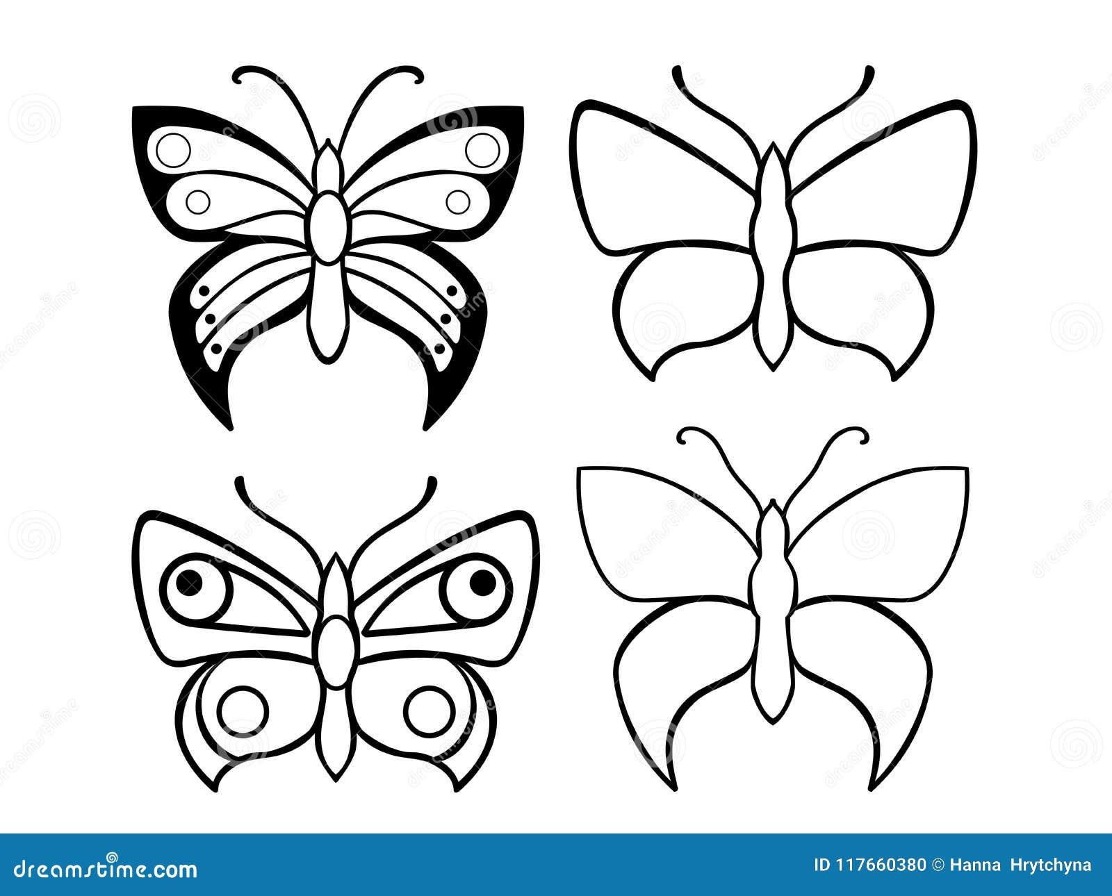 Mariposas Un Sistema De Plantillas De La Mariposa Mariposas Para