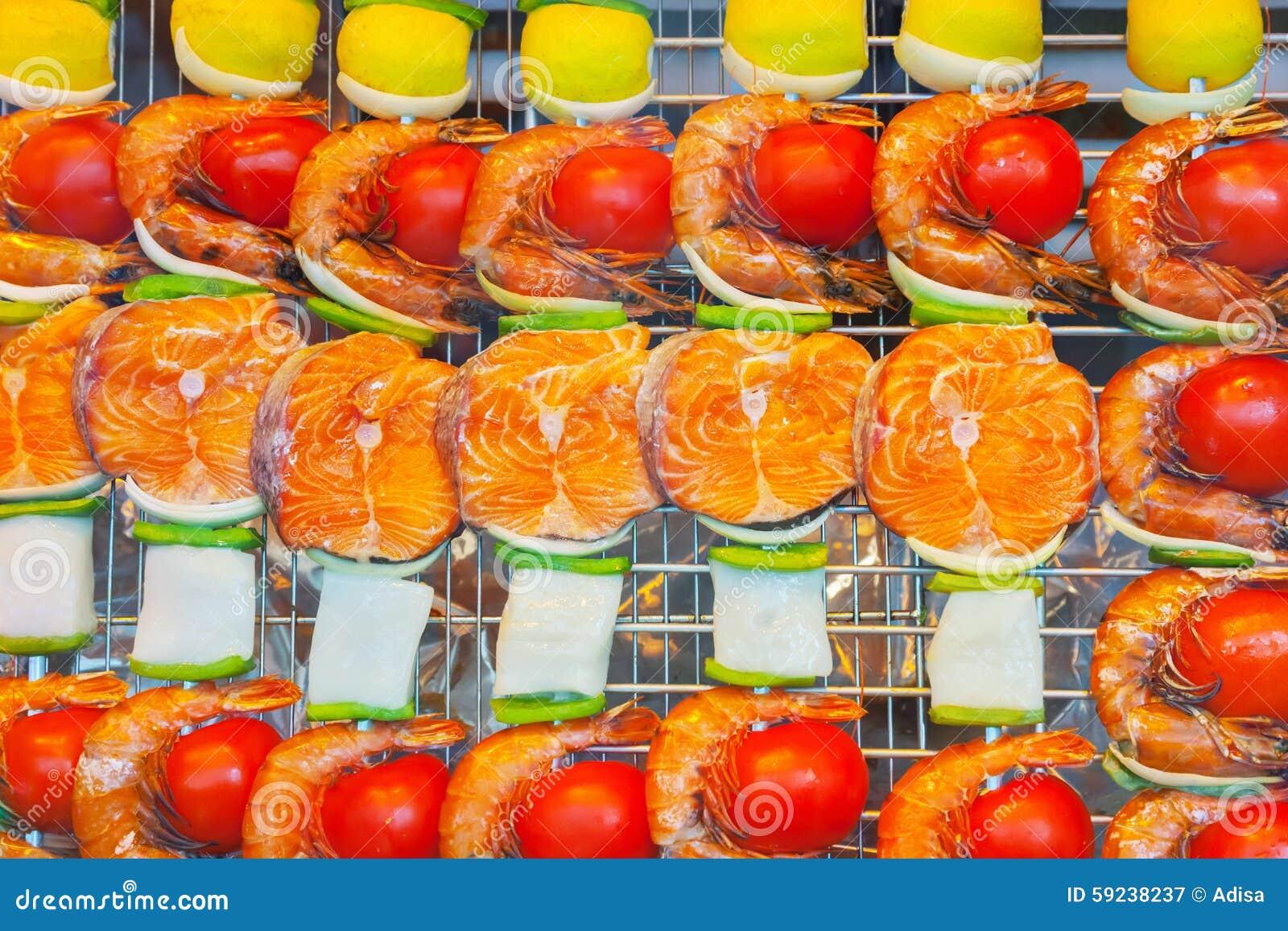Download Mariscos Asados A La Parrilla Imagen de archivo - Imagen de carne, alimento: 59238237