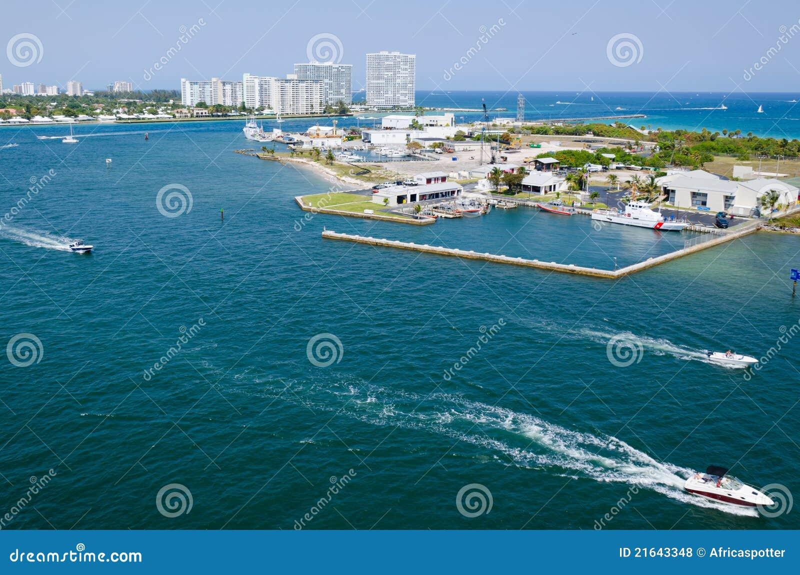 Marismas del acceso de la opinión del puerto, pie Lauderdale
