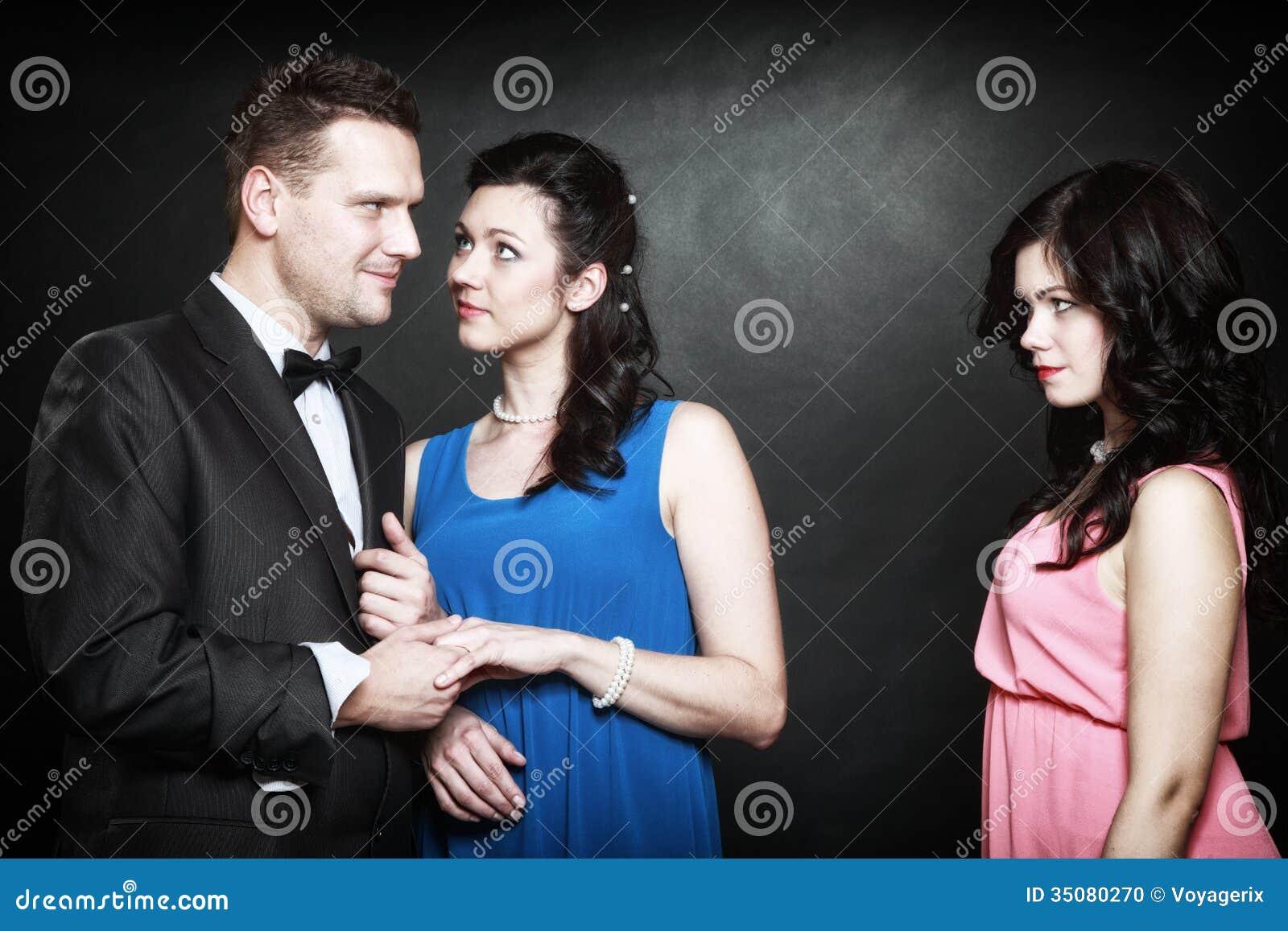 Authoritative 2 males one female threesome