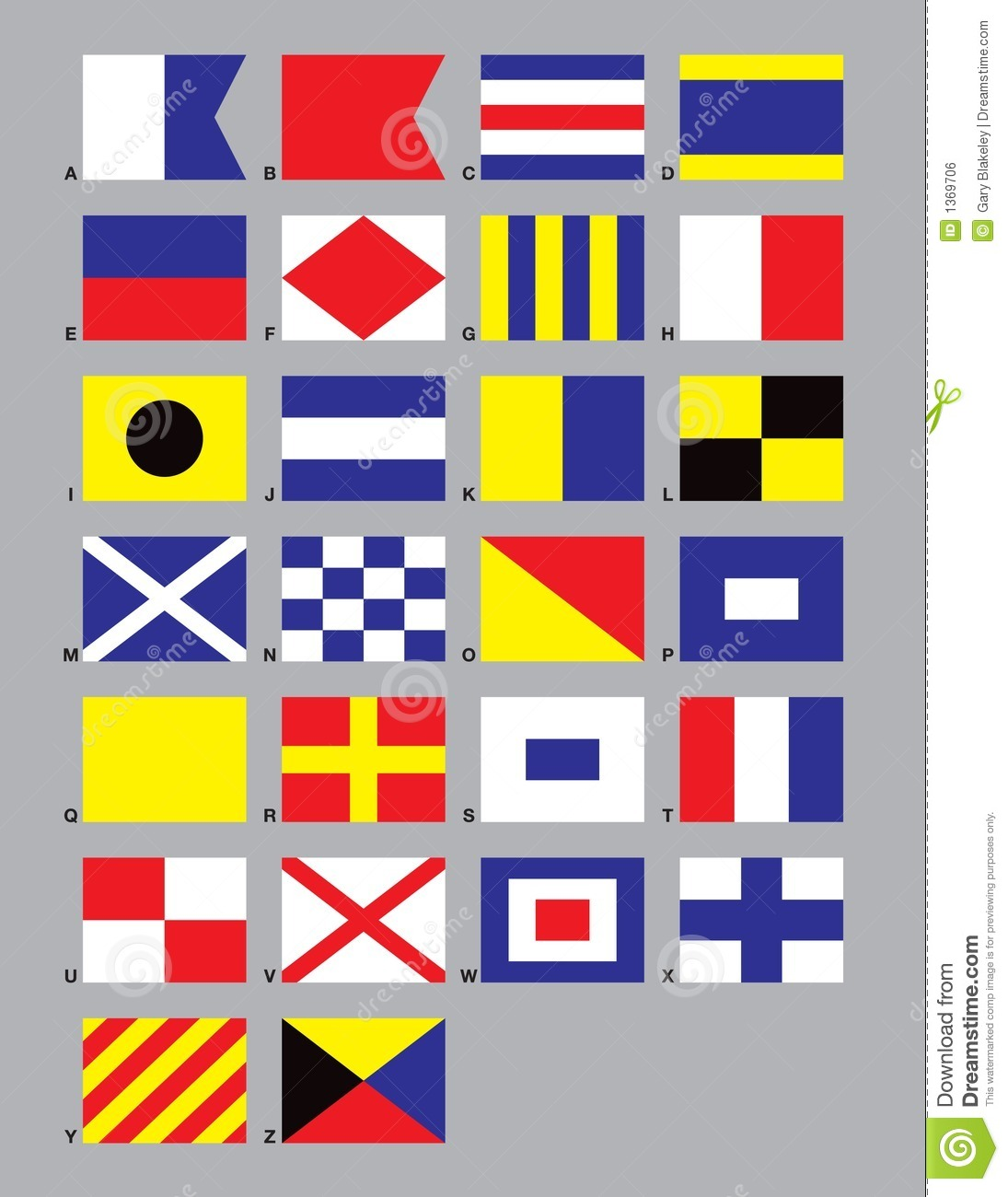 Maritime Signal Flags stock vector. Image of message ...