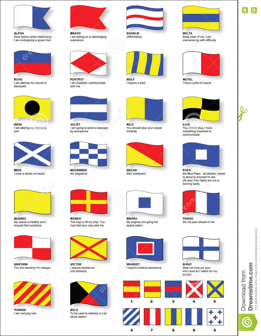 Maritime Signal Flags With Phonetic Alphabet Stock Vector Illustration Of Signal Boat 78455473