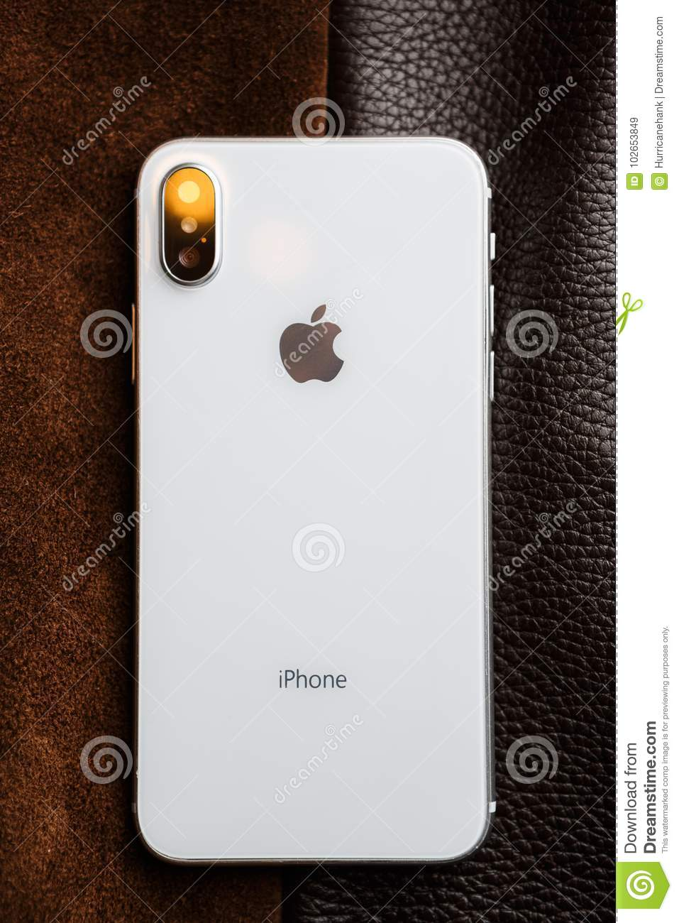 more photos 42660 7cd16 New Iphone X Smart Phone Concept With Big Touch Screen Editorial ...