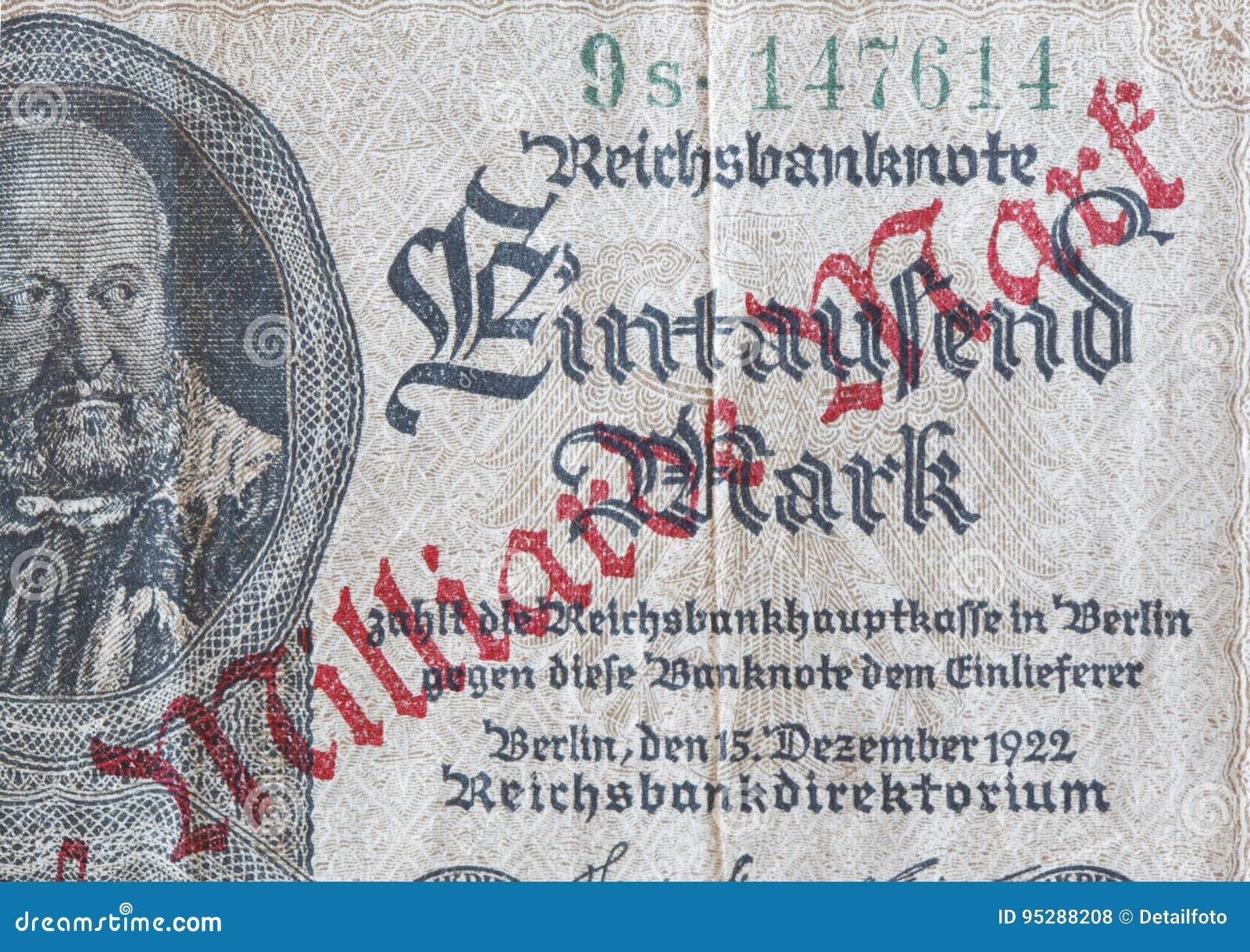 Mark de royaume Bill, argent historique de Deutsche