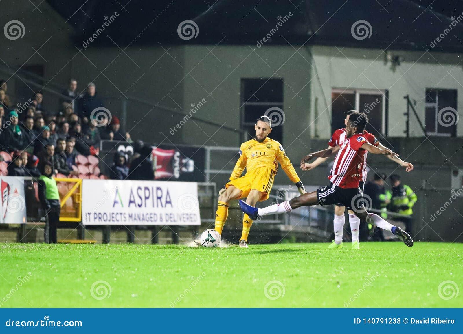Mark McNulty at League of Ireland Premier Division match Cork City FC vs Derry City FC