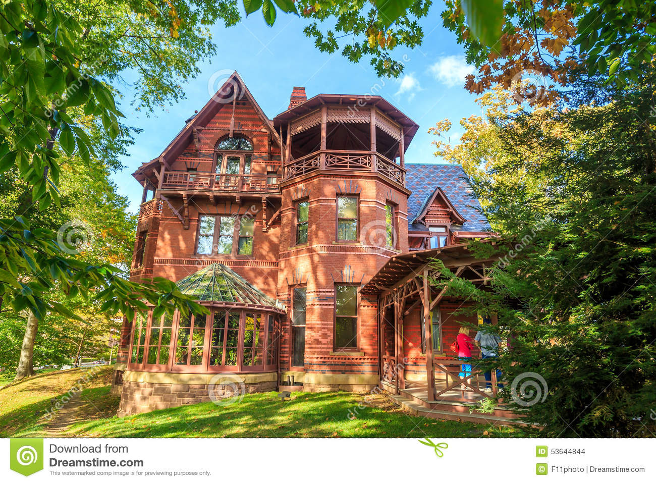 The mark twain house and museum editorial stock image for The hartford house