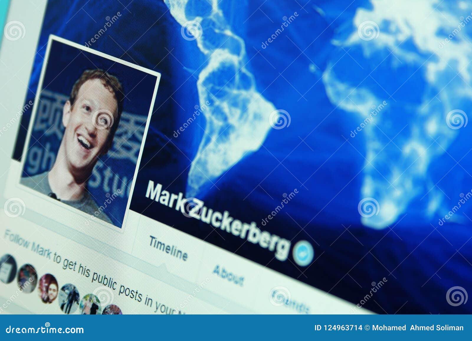 Mark Zuckerberg-facebook Konto