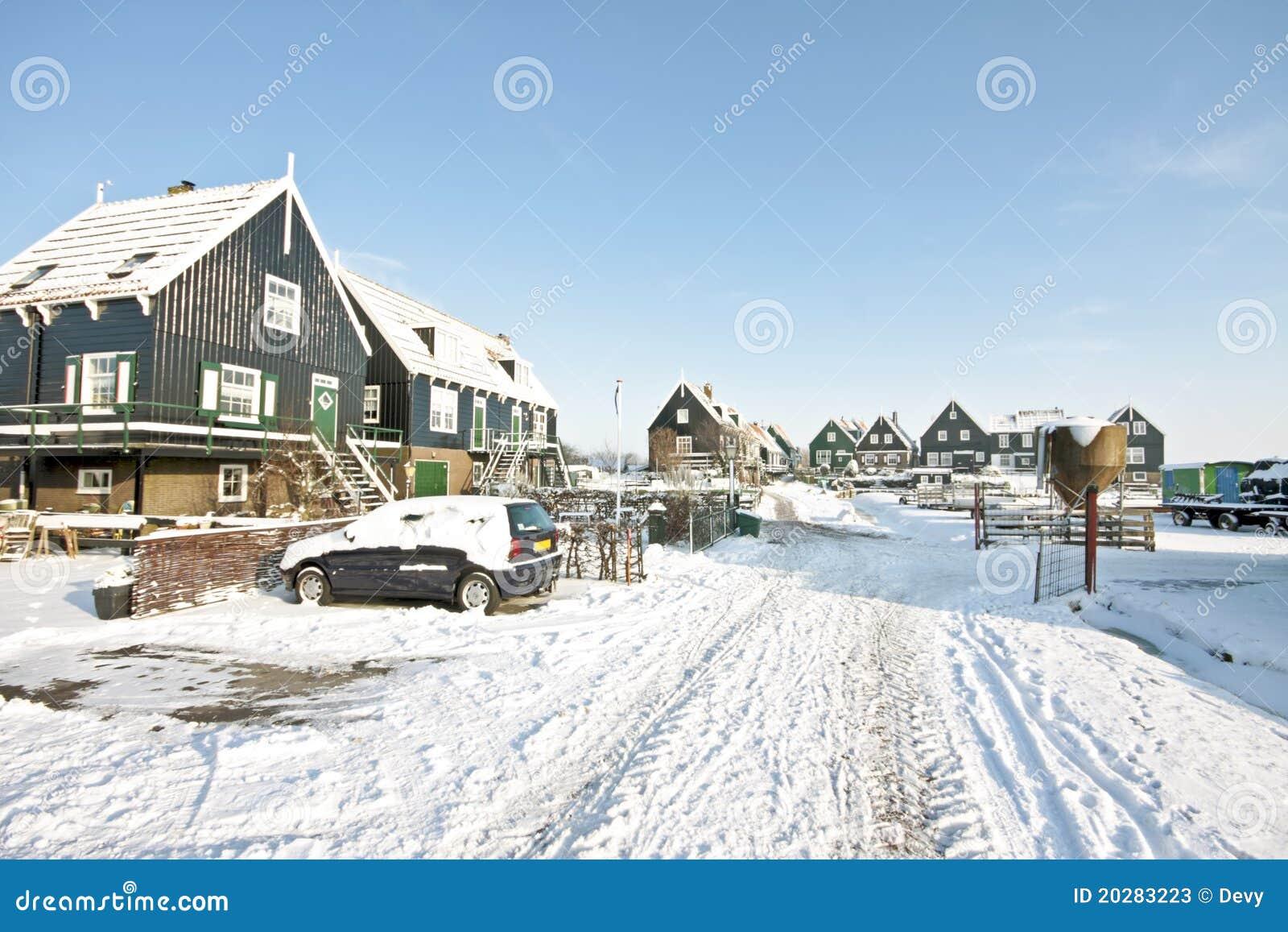 marken in winter in the netherlands stock photos image. Black Bedroom Furniture Sets. Home Design Ideas