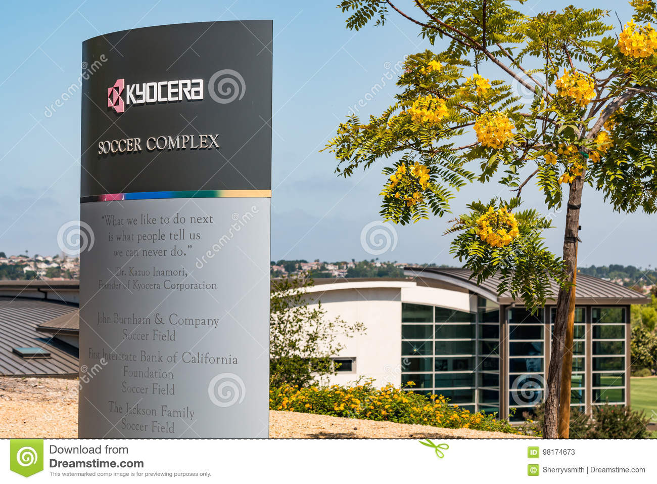 Marker For Kyocera Soccer Complex Training Site For Olympic Athletes