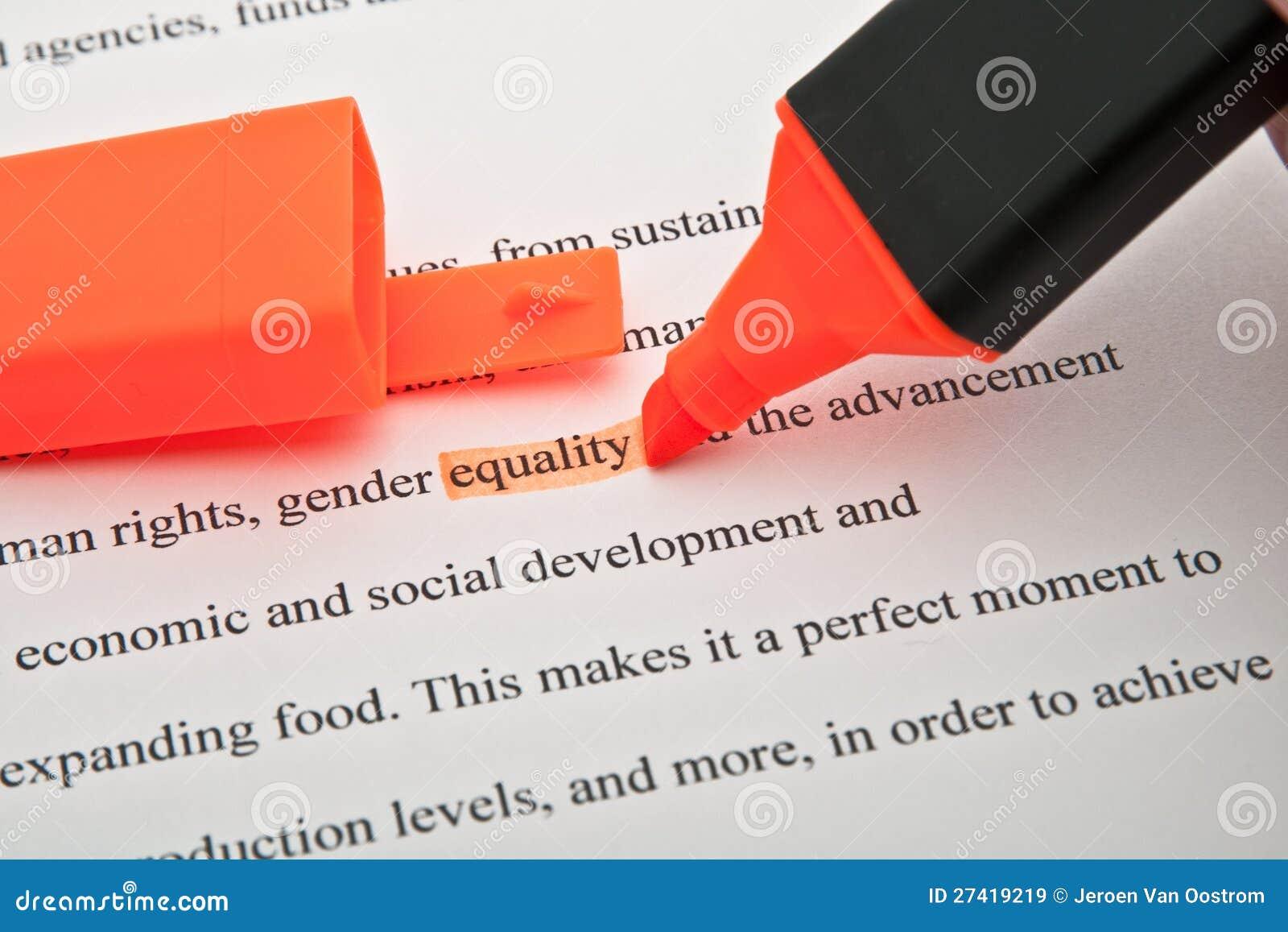 Markerad jämställdhet