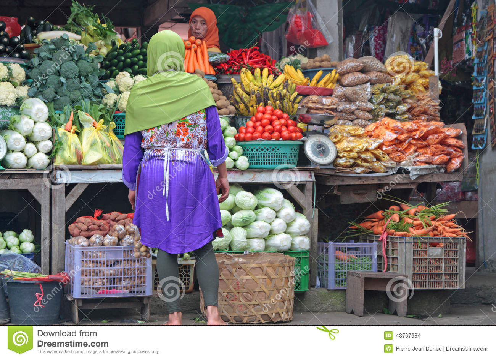 Market In Bedugul Bali Editorial Stock Image Image Of