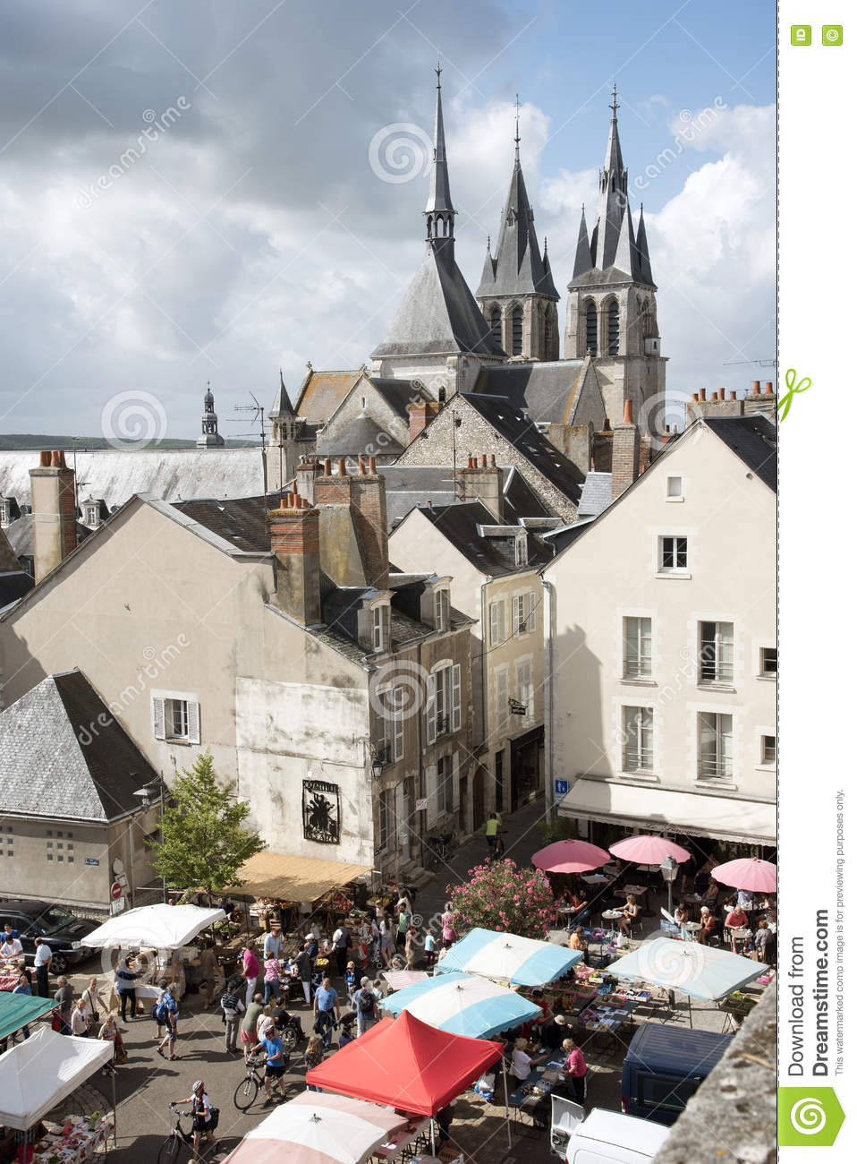 Market in Blois France editorial image  Image of french