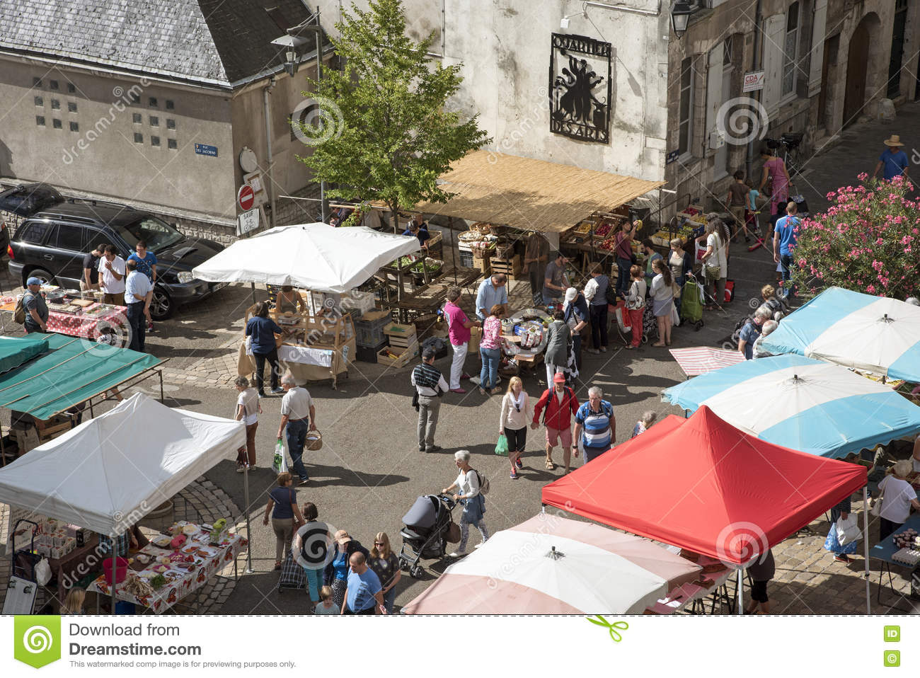 Market in Blois France editorial photography  Image of