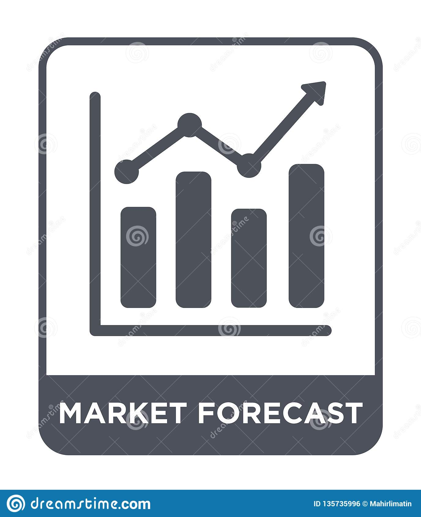 market forecast icon in trendy design style. market forecast icon isolated on white background. market forecast vector icon simple