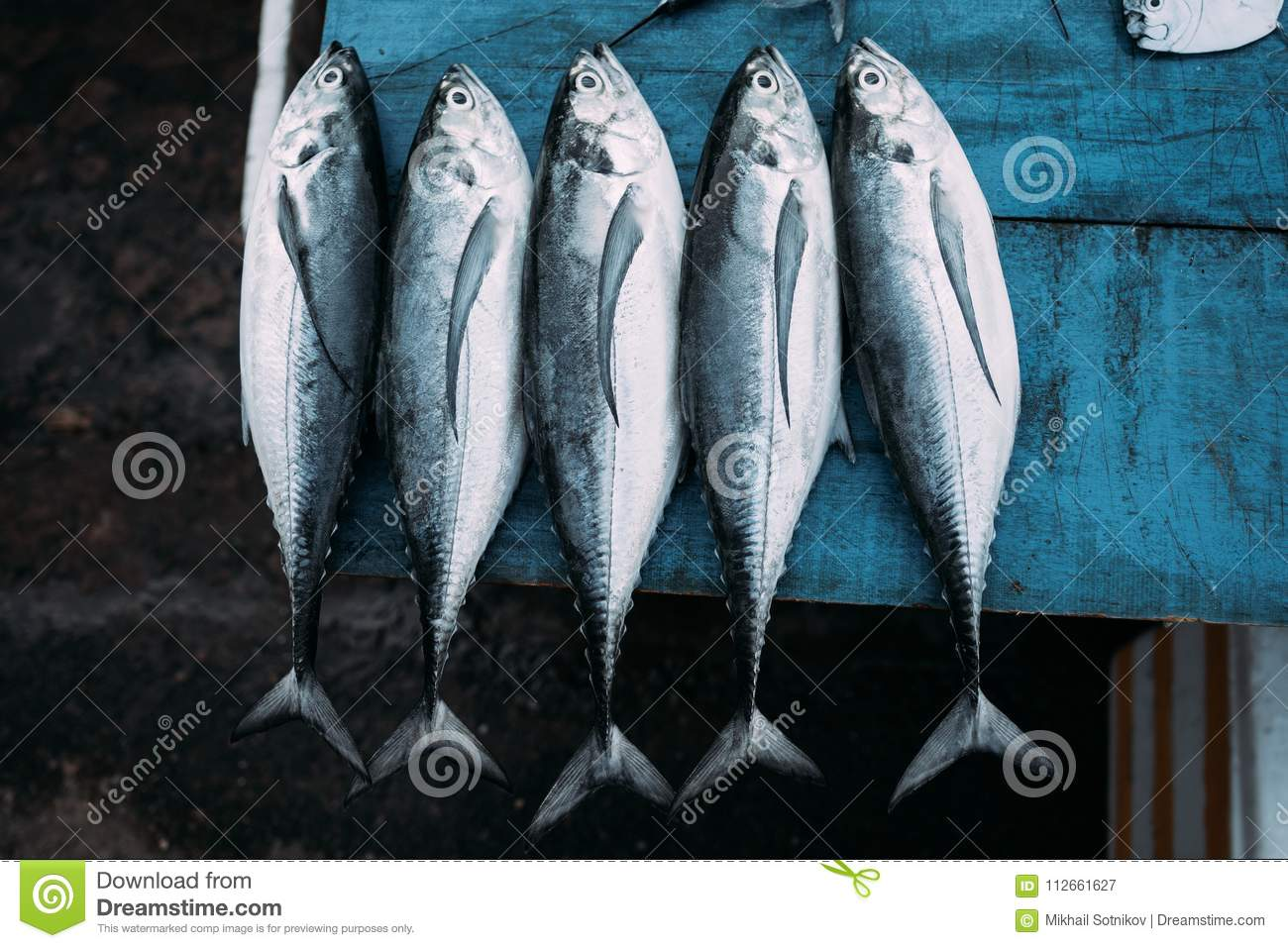 The Market For Marine Fish Stock Image Image Of Ingredient 112661627