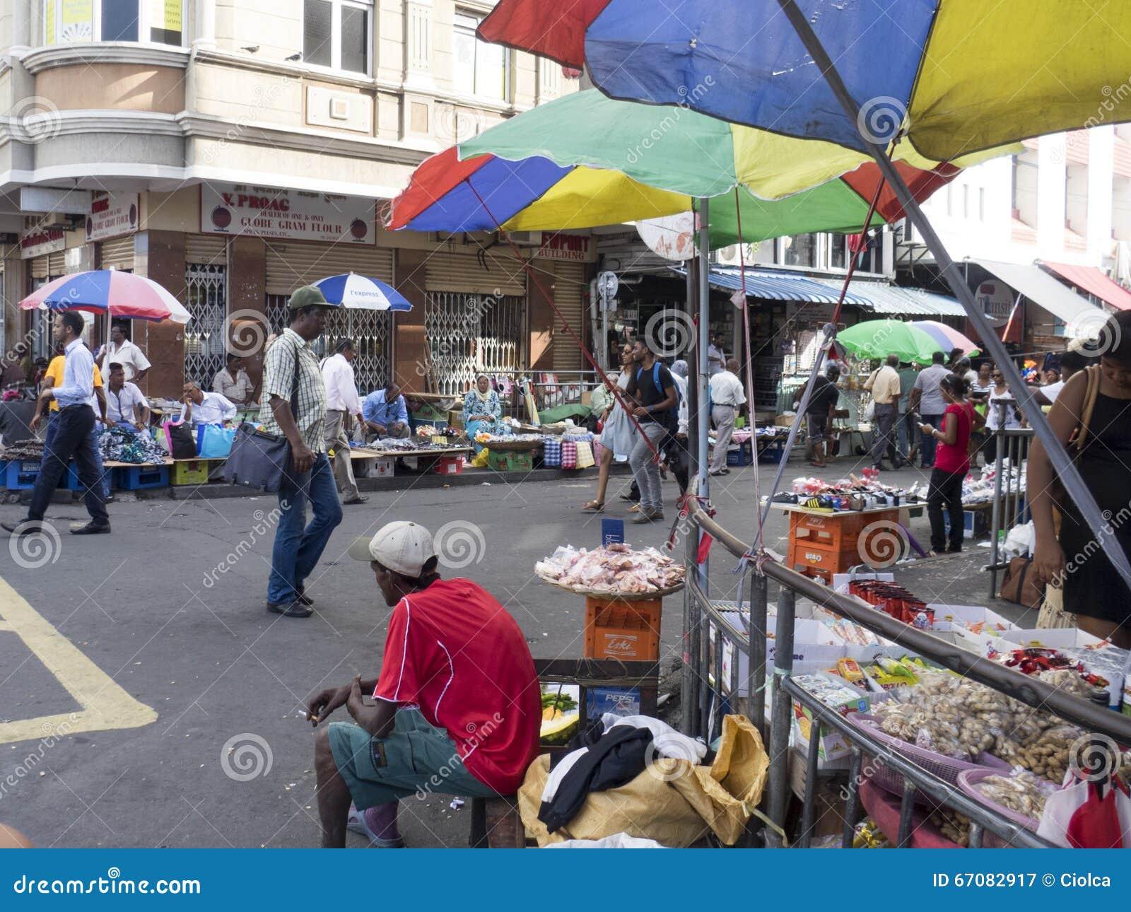 Market in port louis mauritius editorial photography image 67082917 - Mauritius market port louis ...