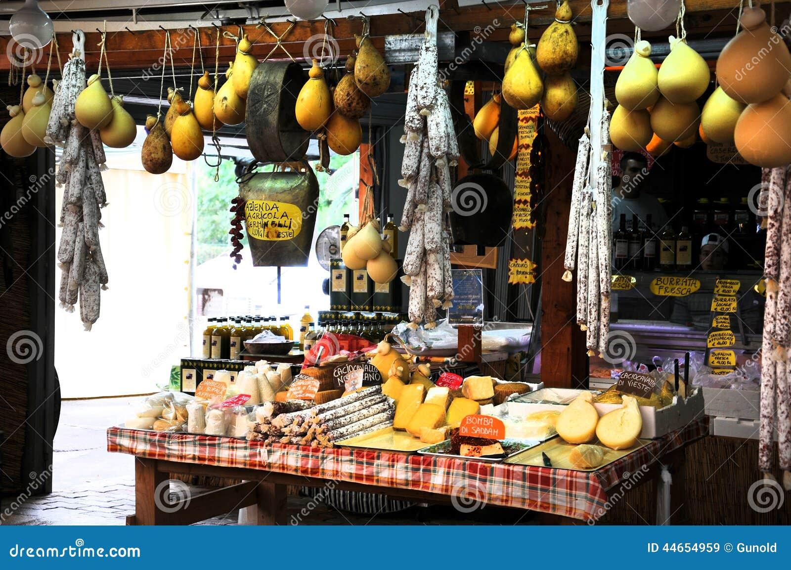 Market in Puglia editorial stock image  Image of board