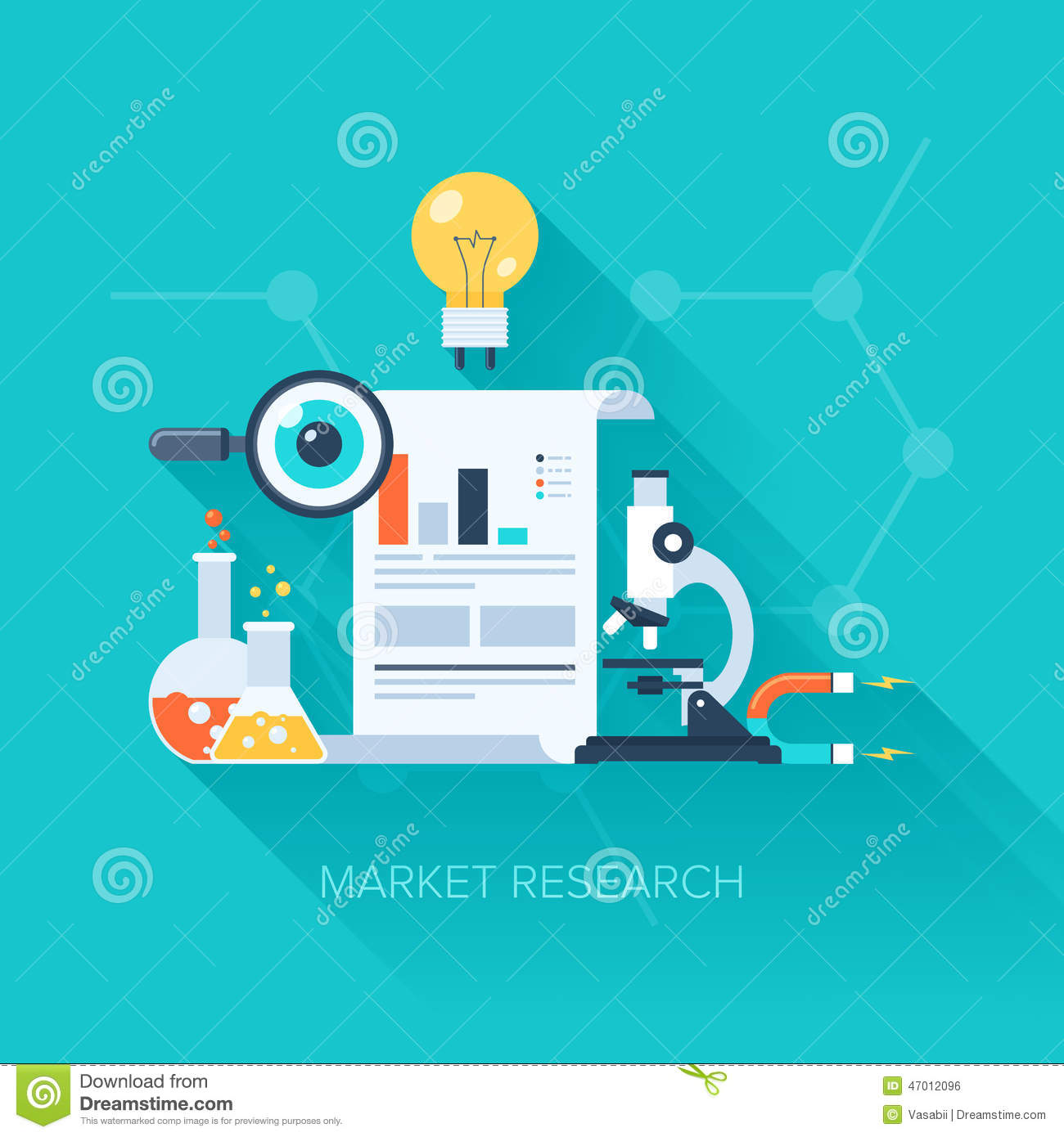 market research stock photo image 47012096