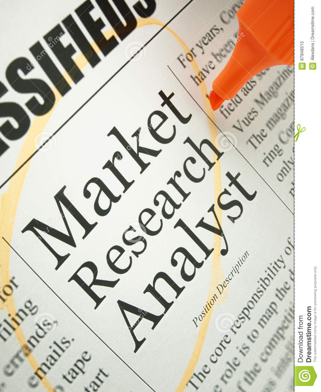 download market research analyst stock image image of newspaper 87848513
