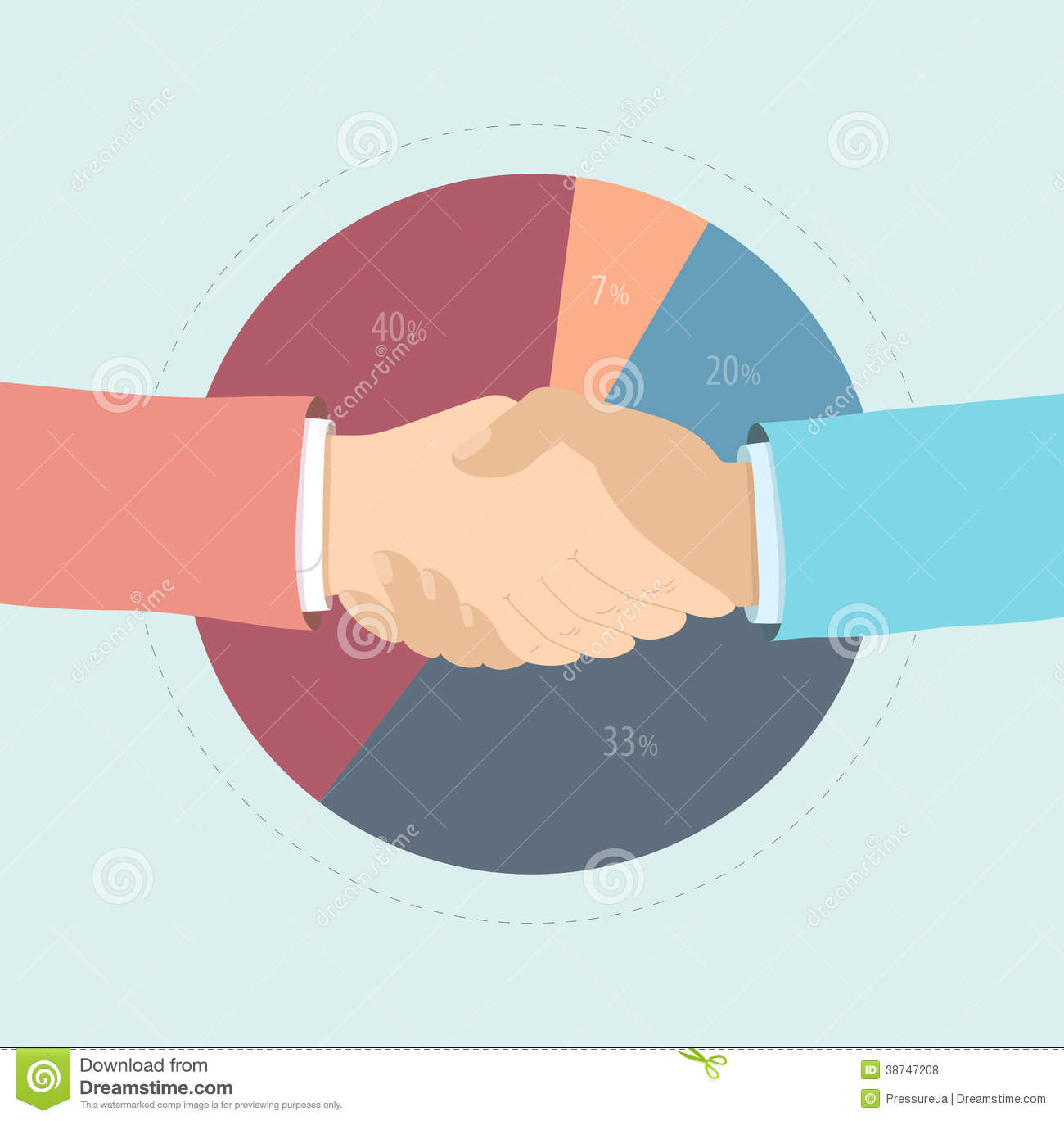 Market Agreement Flat Illustration Stock Vector