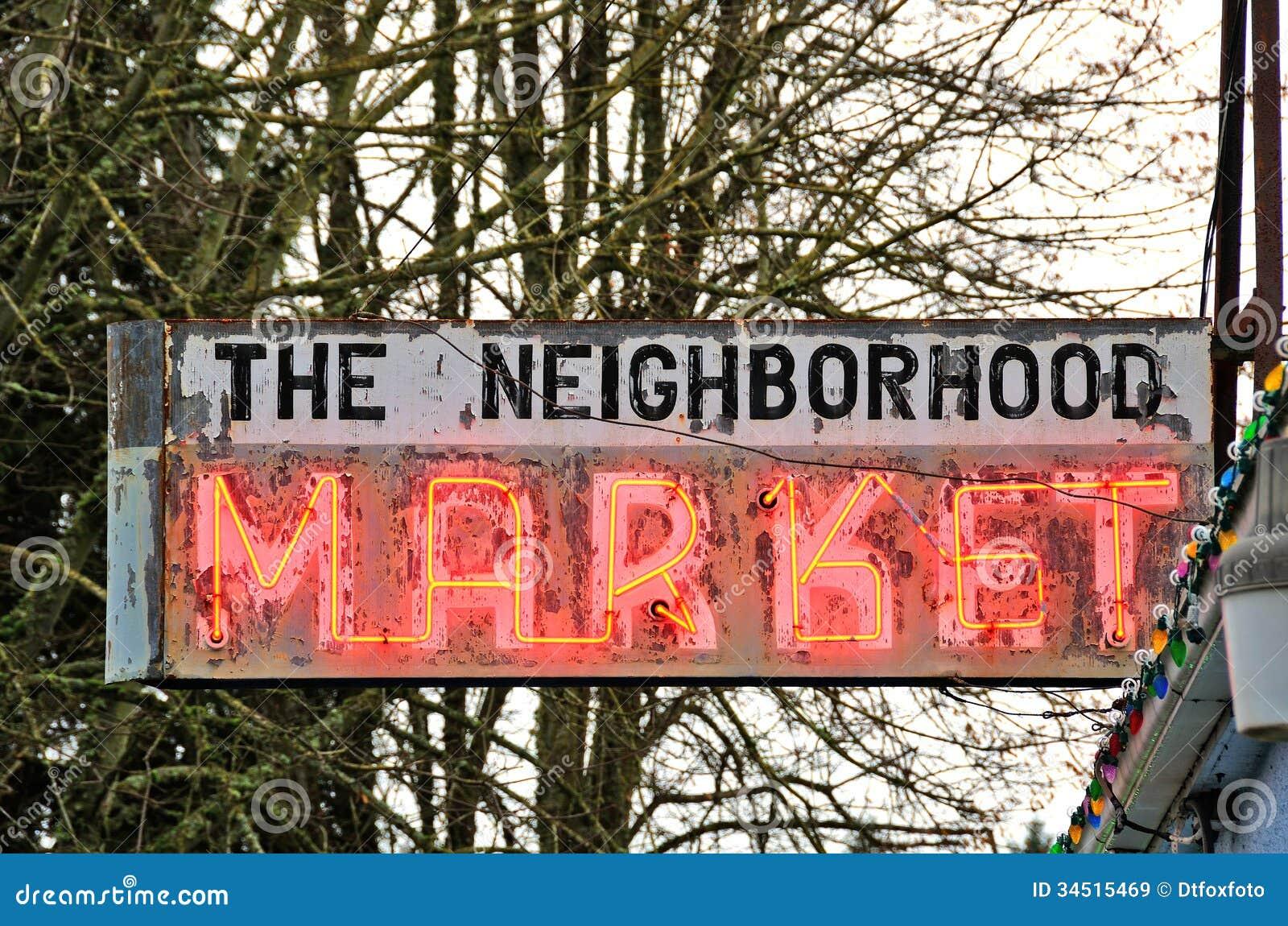 Market Sign Stock Image Image Of Corner Agriculture