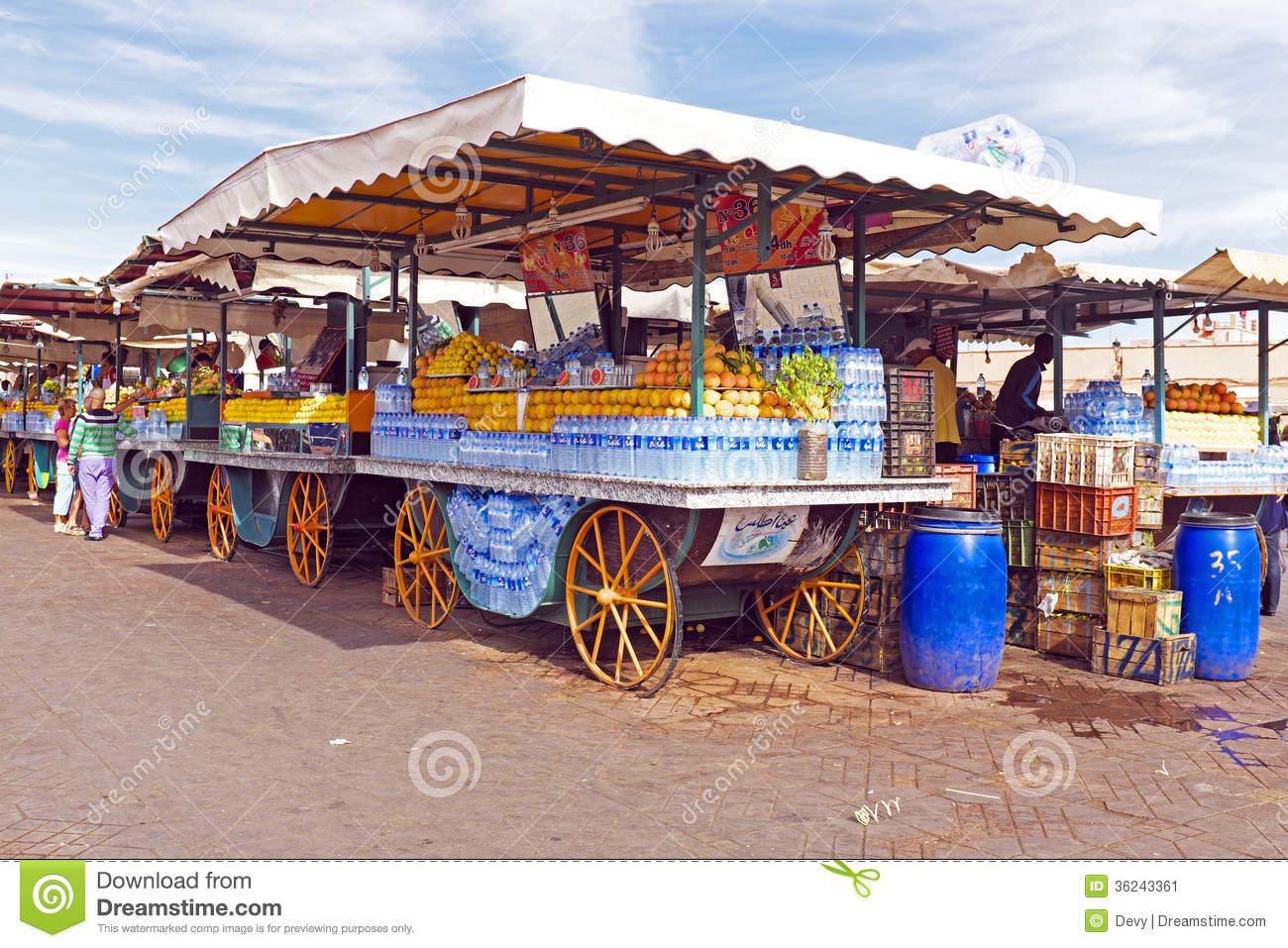 Market stall with fruits in Marrakech Morocco