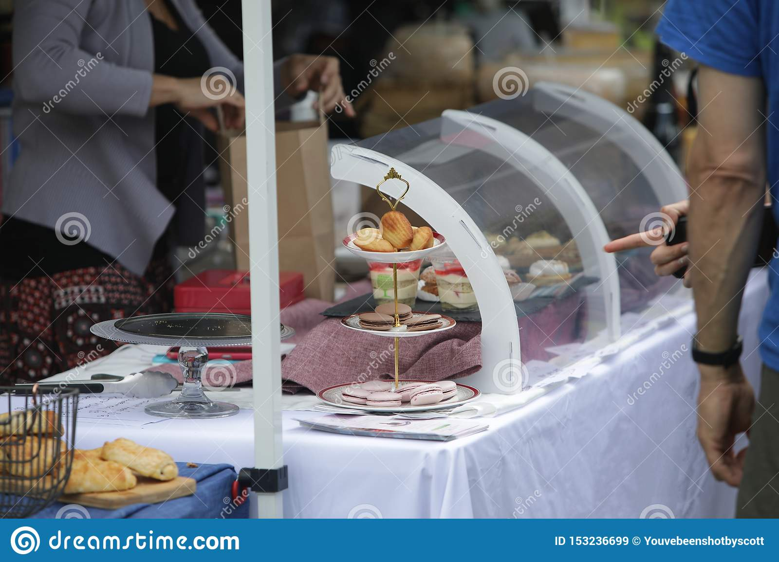 French Patisserie Market Selling Macaroons And Other Sweets Stock Image Image Of Pastisery Display 153236699