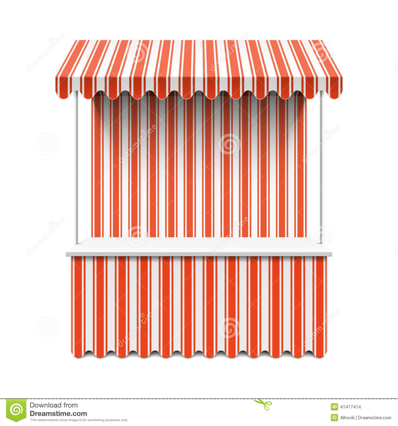 Market Stall Stock Vector - Image: 41417414