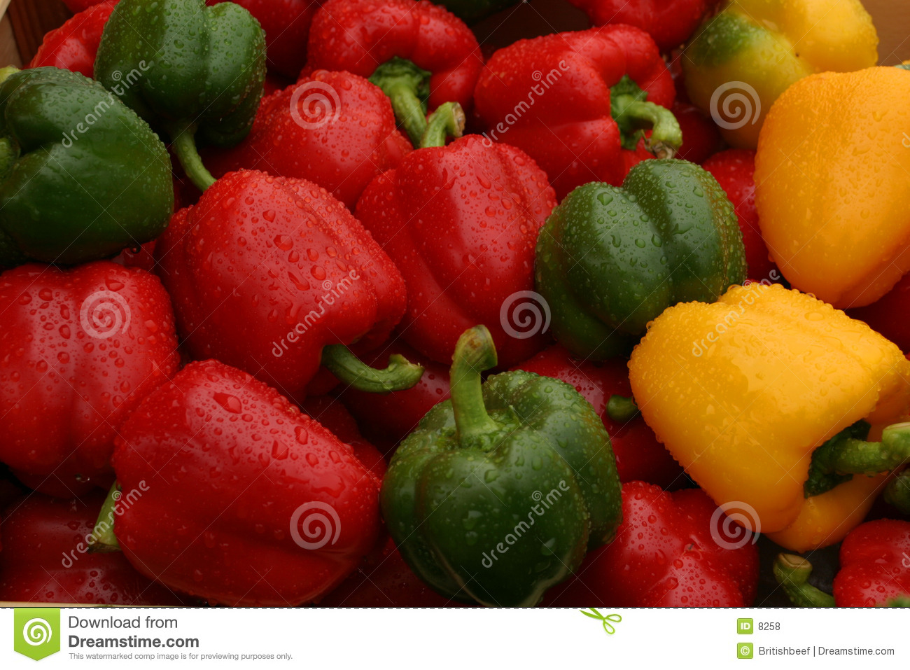 Market stall peppers