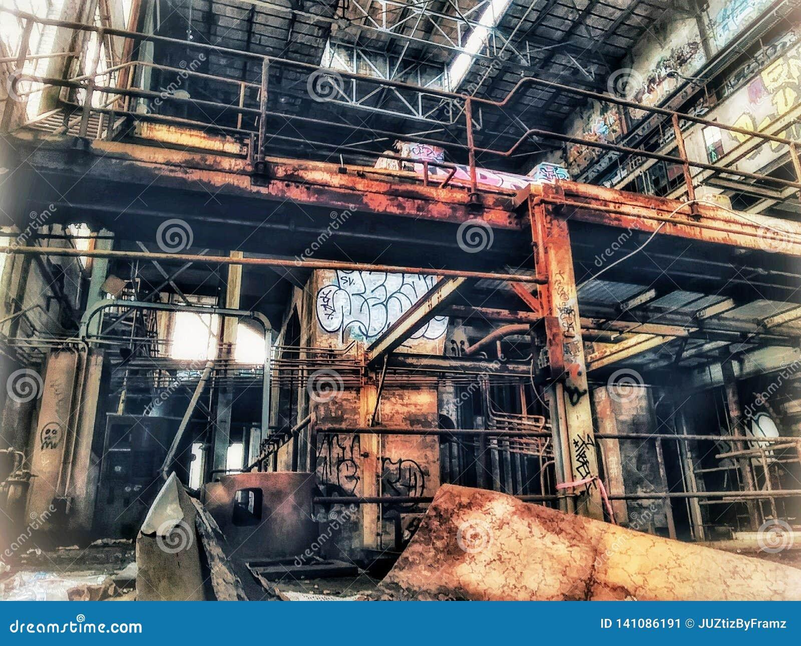 Market Street Nowy Orlean zaniechana elektrownia