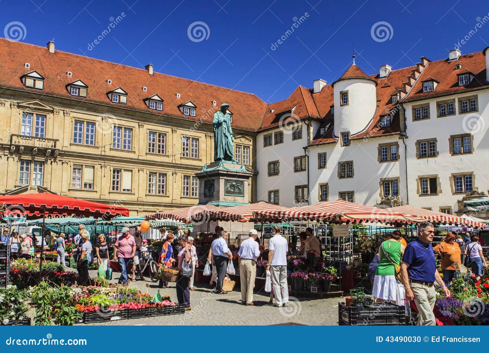 Market in Stuttgart, Germany.
