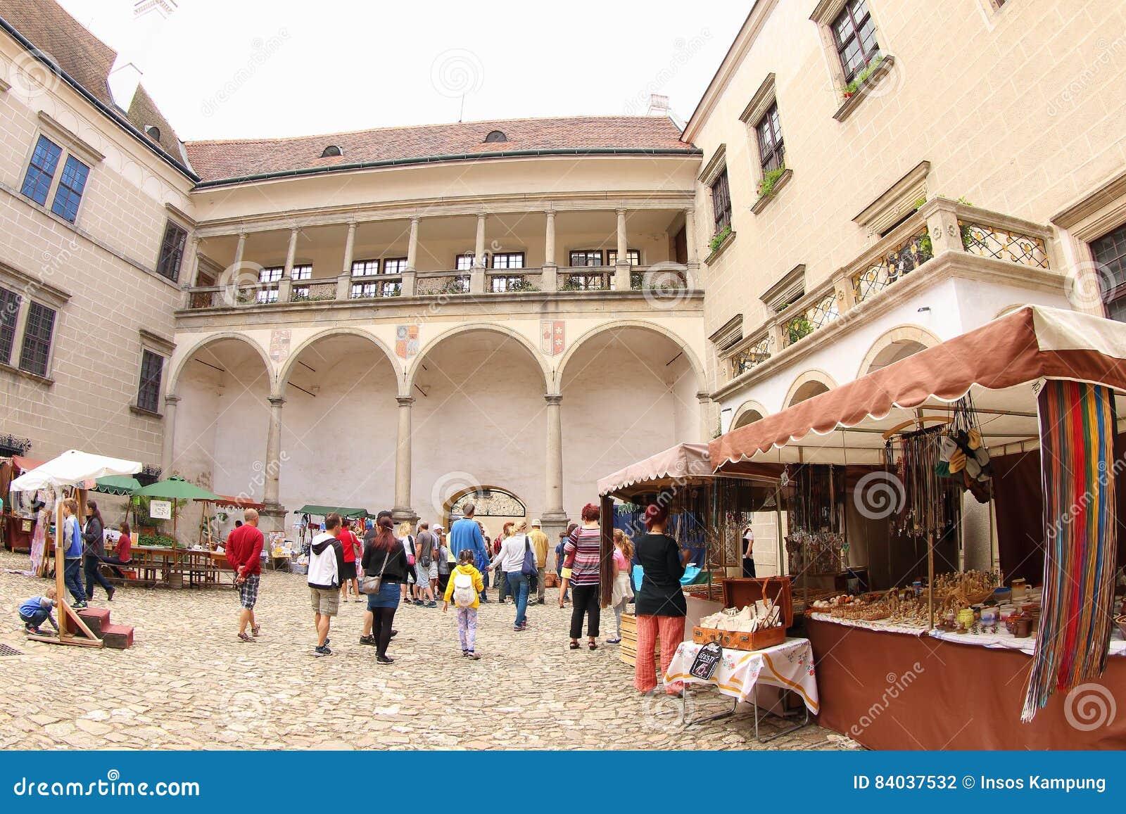 Market at Telc Castle, Czech Republic