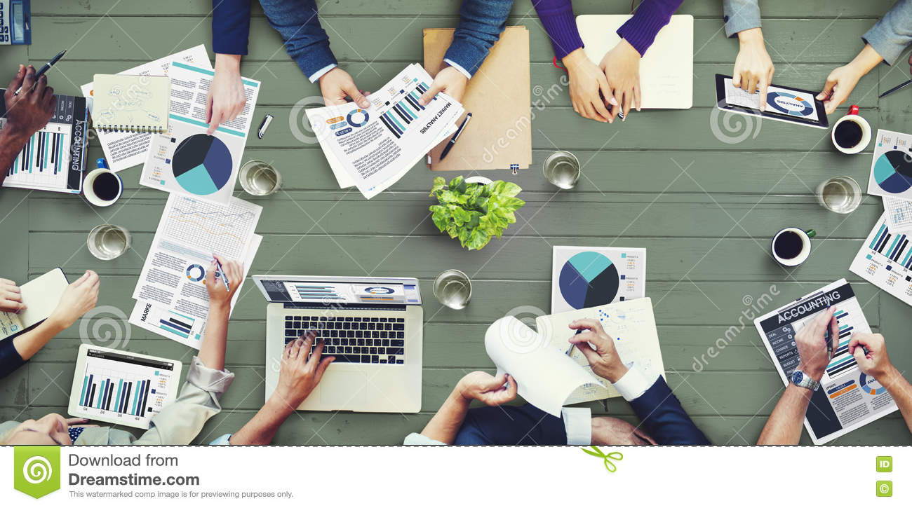 Marketing Analysis Accounting Business Meeting Concept