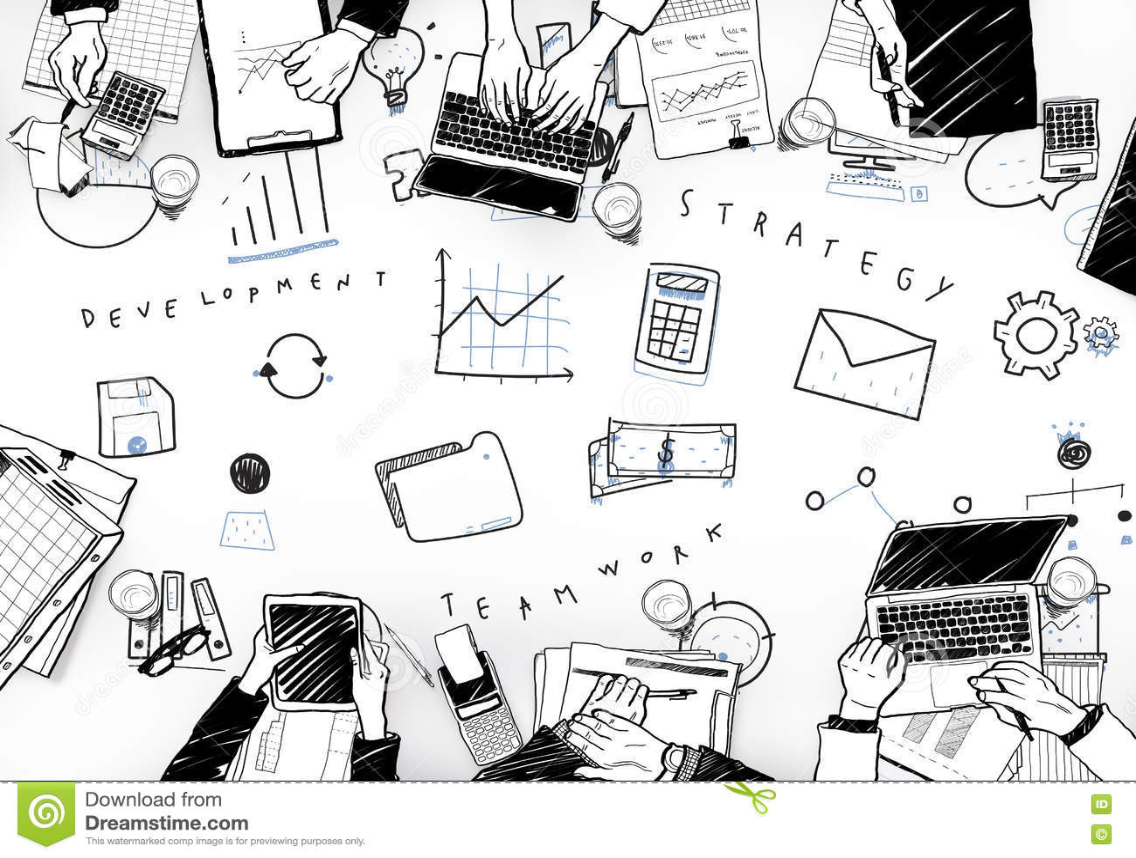 Marketing Business Corporation Progress Concept Stock