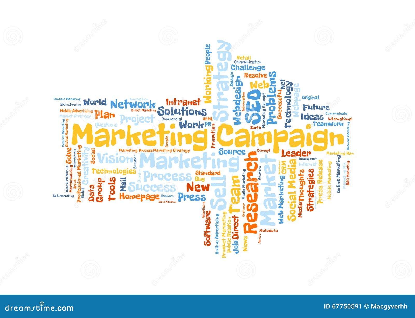 Marketing Campaign Word Cloud Stock Illustration - Illustration of ...