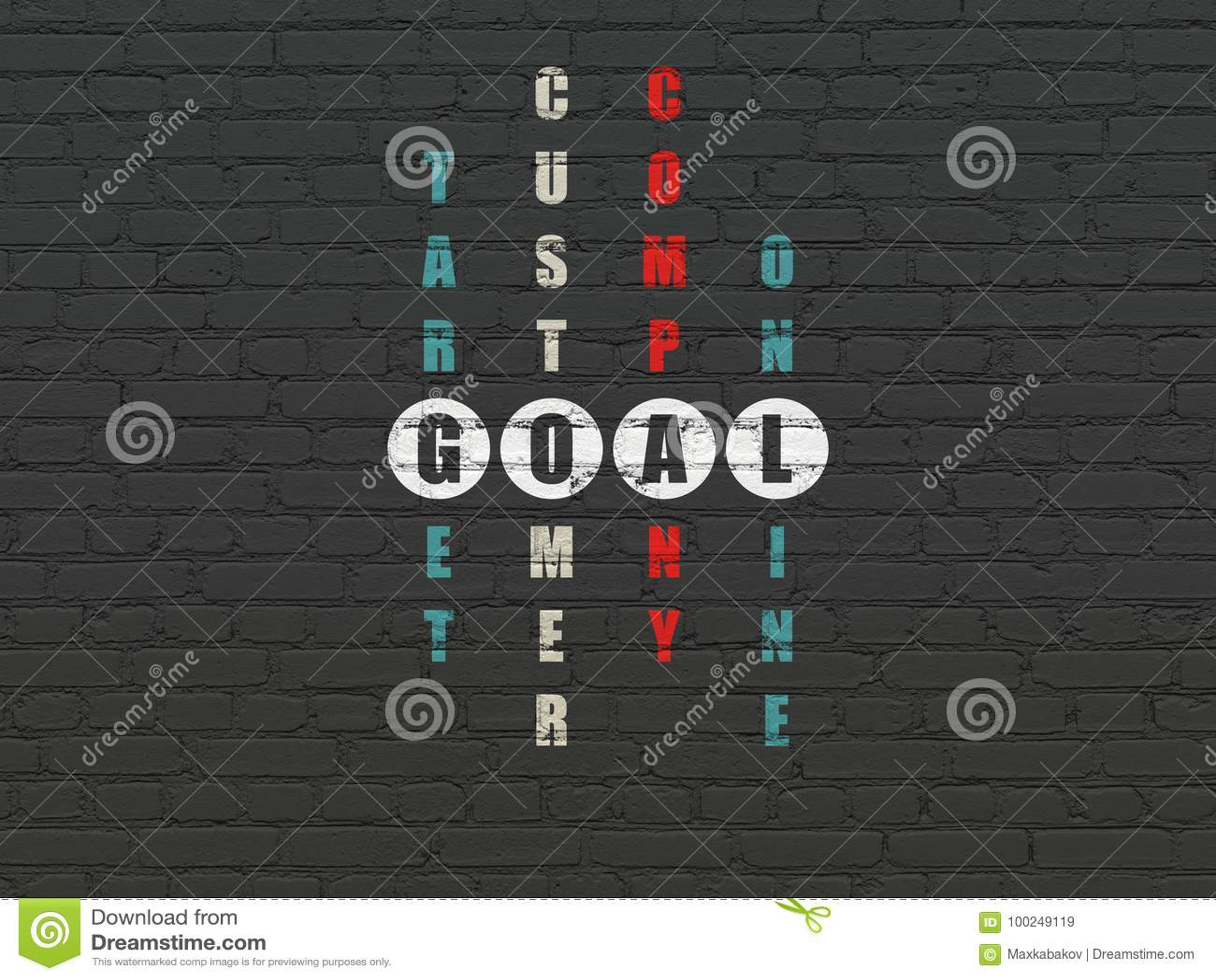 Marketing concept: Goal in Crossword Puzzle