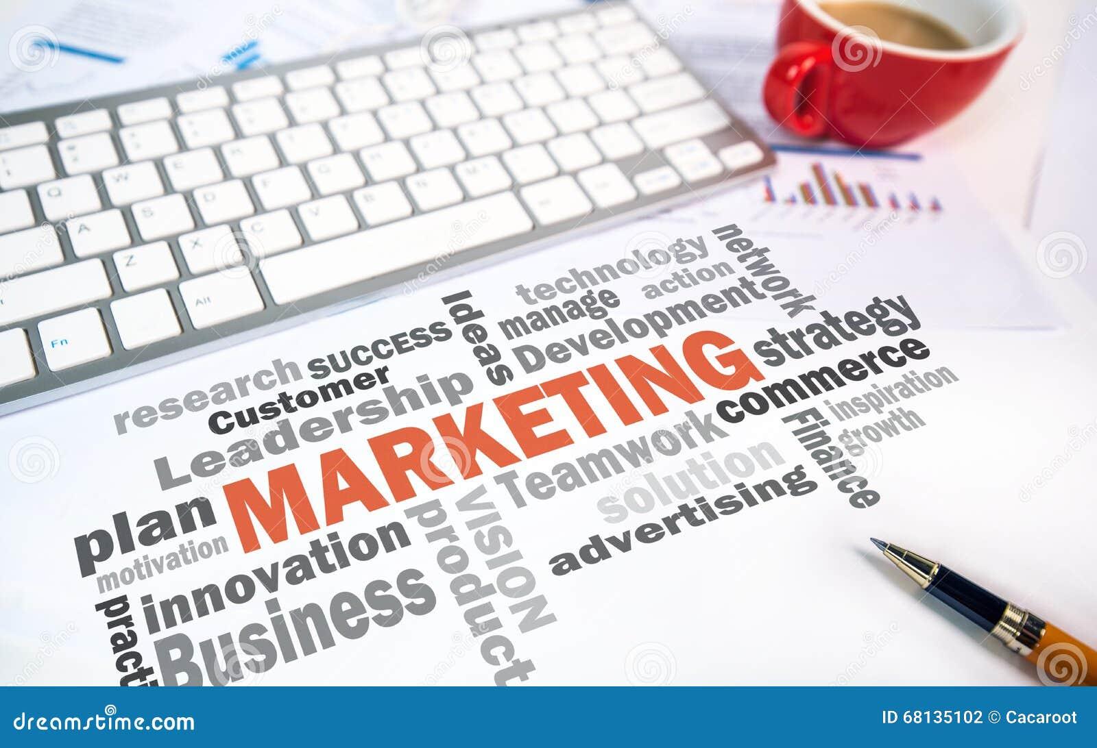 Marketing concept word cloud